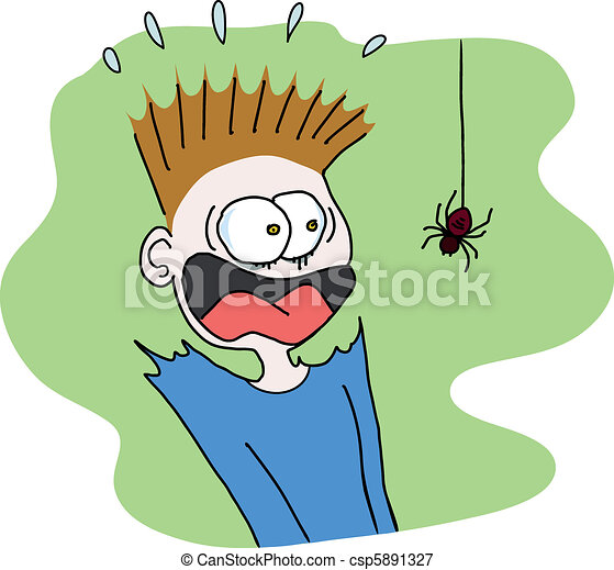 Clip Art Scary Clipart scary stock illustrations 88860 clip art images and spider boy scared of a spider