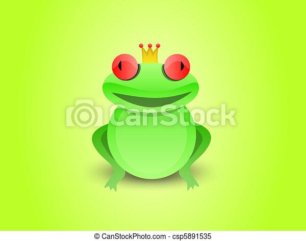 stock illustraties van kikker  prins funny  frog  prince  crown  its  head csp5891535 zoek Cute Frogs Green Frog