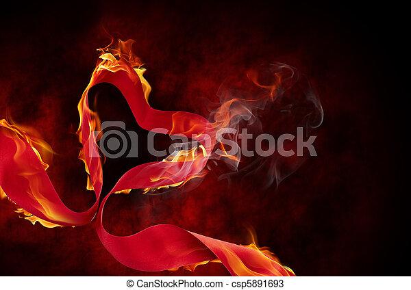 burning ribbon - csp5891693