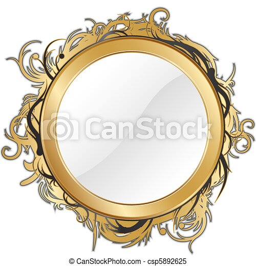 gold mirror - csp5892625