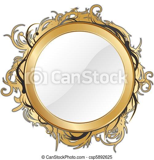 gold mirror - csp5892625