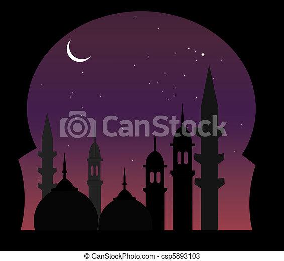 Arabic Night View - csp5893103