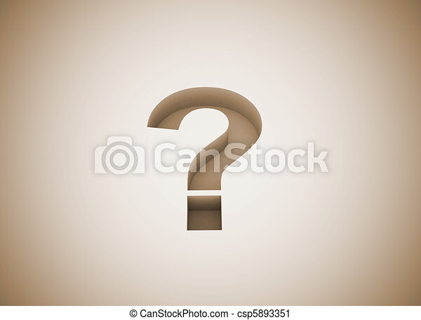 Question mark engraved - csp5893351