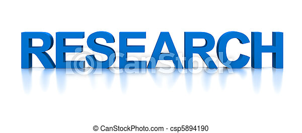 3D Word Research - csp5894190