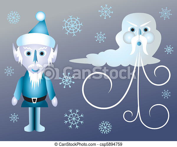 Jack Frost and Old Man Winter - csp5894759
