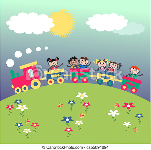 mixed ethnic kids - csp5894894