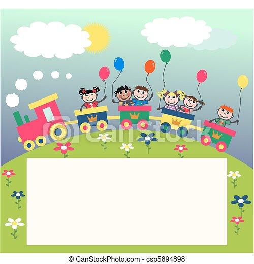 mixed ethnic kids - csp5894898