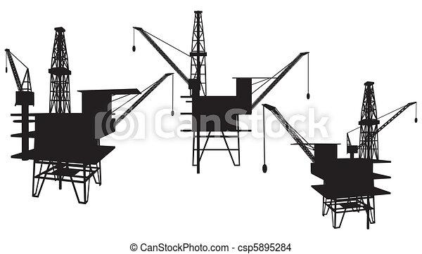 Oil Drilling Platform - csp5895284
