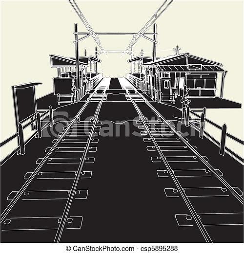 Antique Railway Station - csp5895288