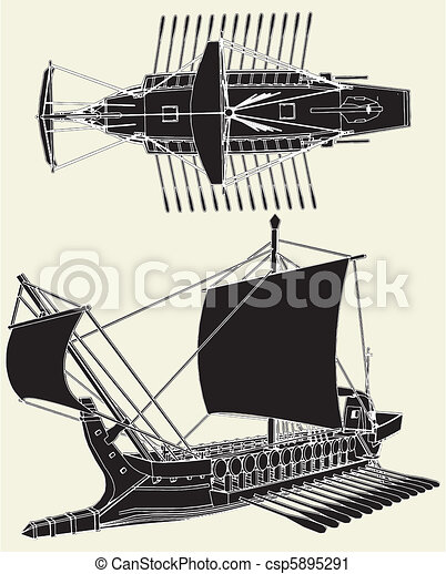The Ancient Greek Ship - csp5895291