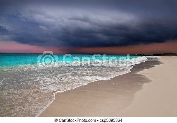 hurricane tropical storm beginning Caribbean sea - csp5895364