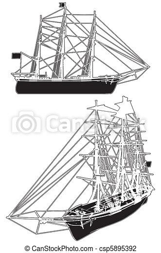 Sailing Ship - csp5895392