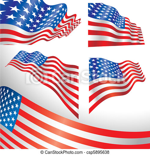 USA windy flags - csp5895638