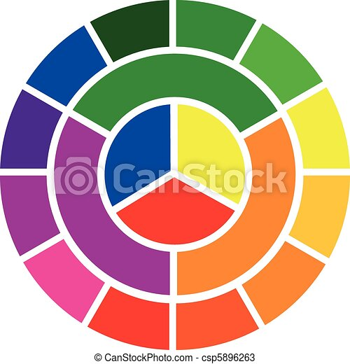 color wheel, vector - csp5896263