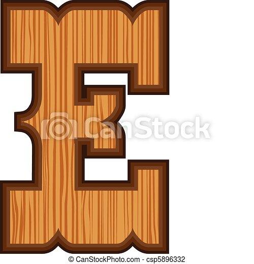 Western E letter - csp5896332
