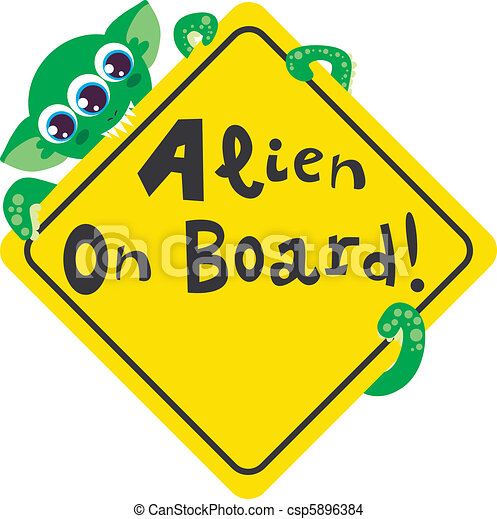 Alien on Board - csp5896384