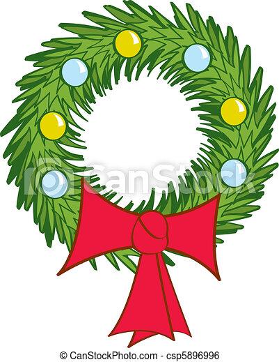 Holiday Wreath - csp5896996