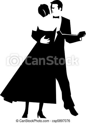 Dancing Couple - csp5897076