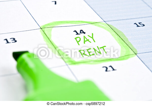 Pay rent mark - csp5897212