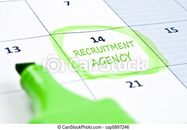 Recruitment agency mark - csp5897246