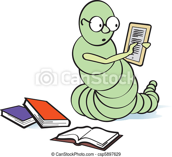 E-Bookworm - csp5897629