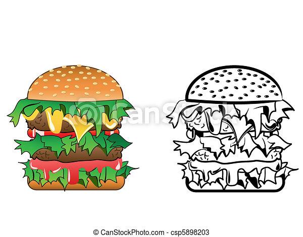 cheeseburger - csp5898203