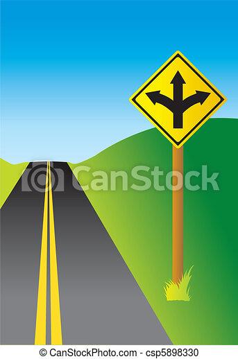 Three Way Sign - csp5898330