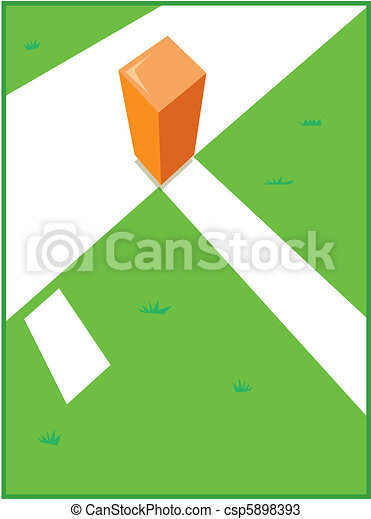 Pylon and Goal Line - csp5898393
