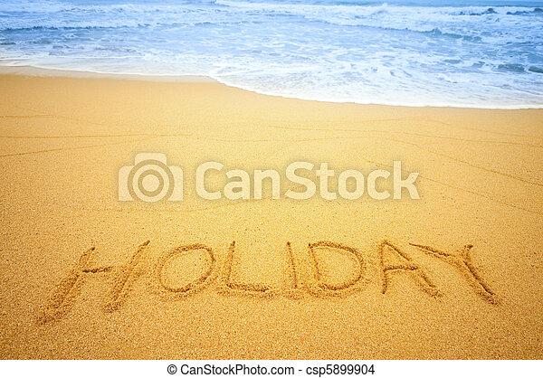 Feiertag, sandstrand - csp5899904