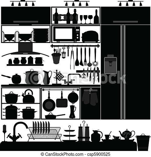 Vecteur clipart de int rieur ustensile outillage for Outillage cuisine