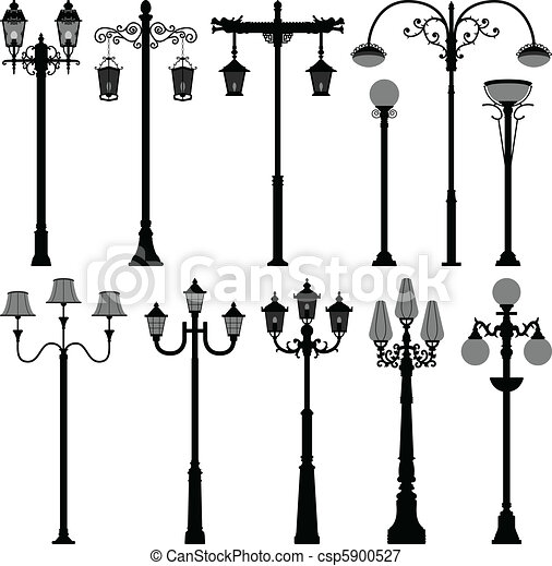lamp Post Lamppost Street PoleLight - csp5900527