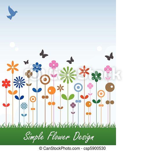Simple Flower Card Message Label - csp5900530