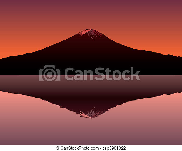 the sacred mountain of Fuji - csp5901322