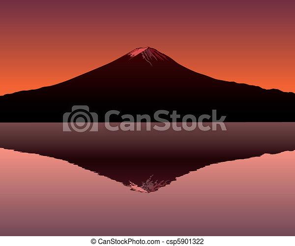 the sacred mountain of Fuji  - csp5901322