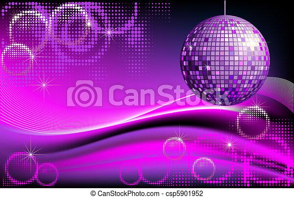 Disco-ball background - csp5901952