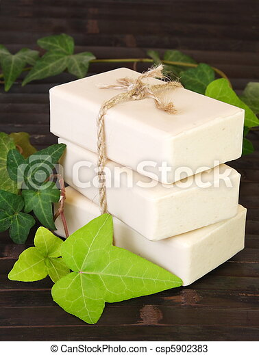 Natural Ingredients Soap Vertical - csp5902383