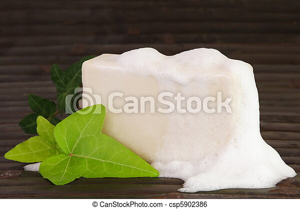 Natural Ingredients Soap with Foam - csp5902386