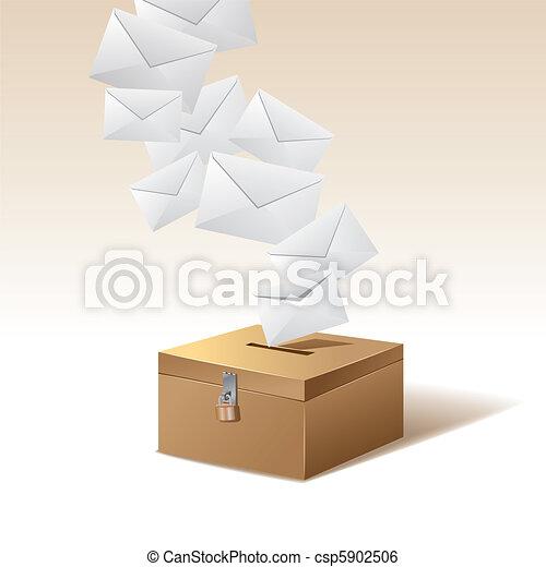 voting box and vote - csp5902506