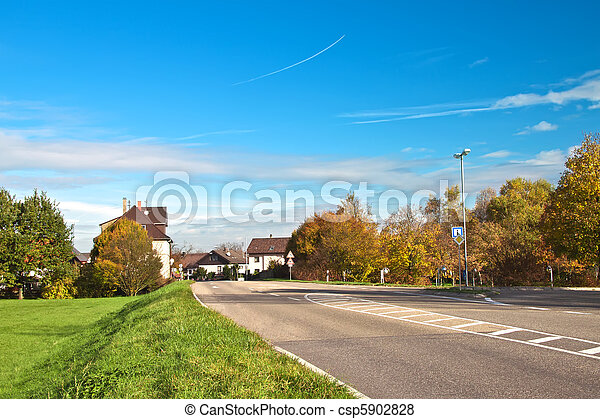 Residential in a small town in Germany. Europe.  - csp5902828