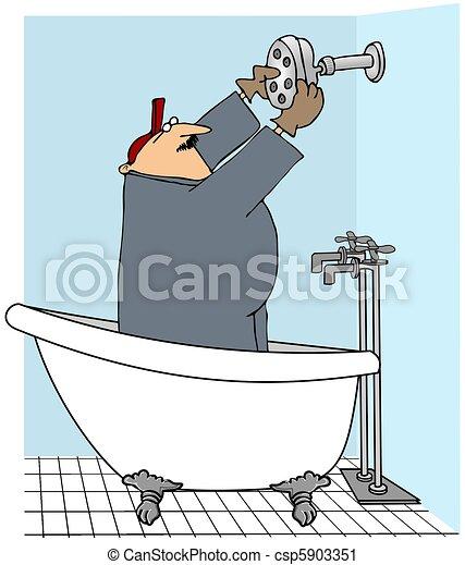Duschkopf clipart  Clipart von duschkopf, installieren, mann - This, abbildung ...