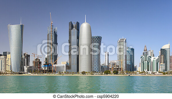 Towers in Doha, Qatar - csp5904220