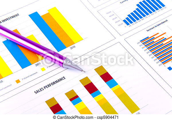 Financial Analysis with charts. - csp5904471