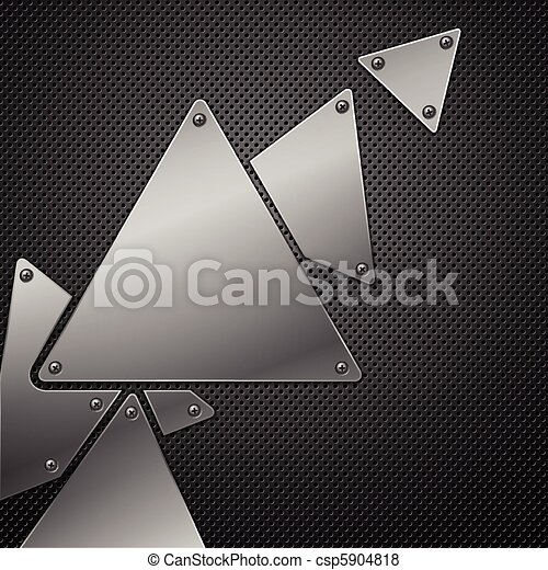 Abstract metal background. Vector illustration. - csp5904818