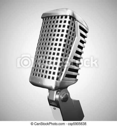 Classic Microphone. Vector - csp5905638