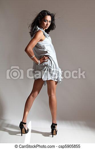 Long legs sexy fashion girl - csp5905855