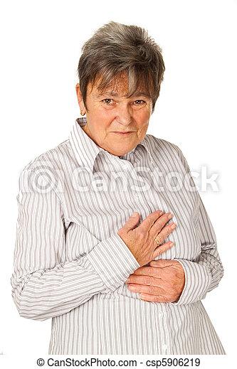 Senior woman feeling unwell - csp5906219