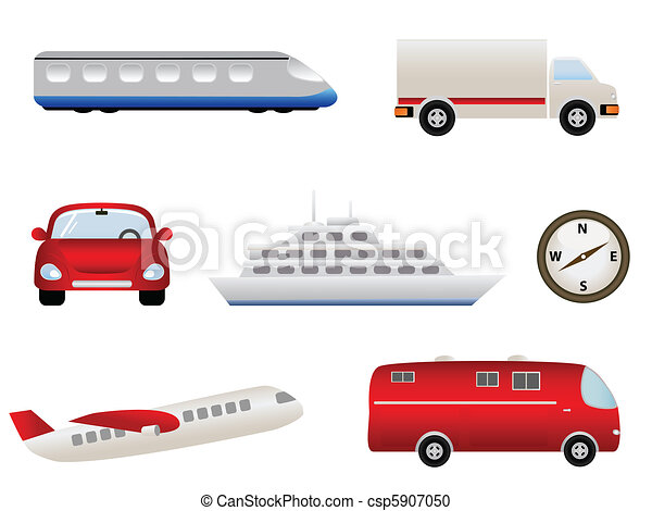 Transportation related icons - csp5907050