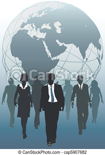 Global team emergent world business resources - csp5907682