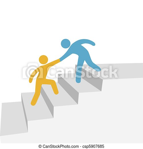 Progress collaboration help friend - csp5907685