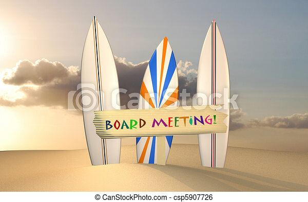 Board Meeting at Sunset - csp5907726